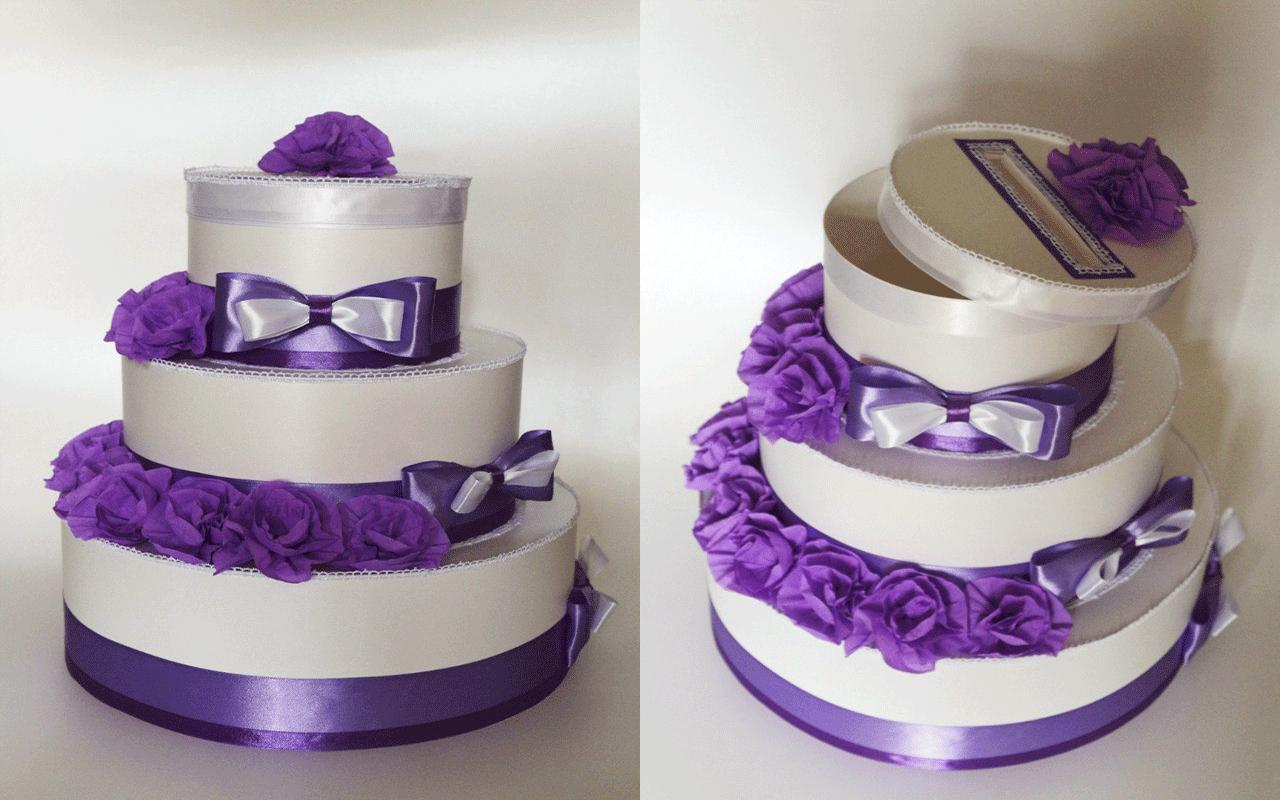 Казна для денег на свадьбу своими руками торт 44